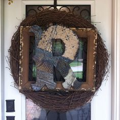 Front Door Wreath--surely have all of this stuff!