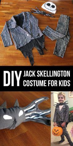 DIY Jack Skellington Kid's Costume
