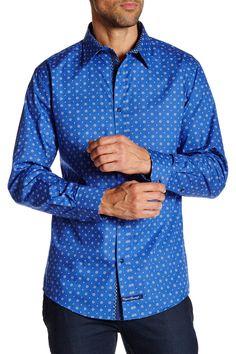 Long Sleeve Woven Printed Shirt
