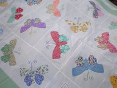 Butterfly Quilt Sewn by My Sister for Our Niece by stelladanza's confections, via Flickr