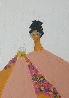 NikiDionne3 Oil Pastel Art, Oil Pastel Drawings, Figure Painting, Figure Drawing, Illustrations, Illustration Art, Art Poses, People Art, Portrait Art