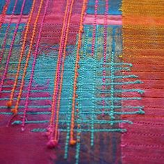 interesting textile art by ruth issett. Great stuff. Check out her website below.