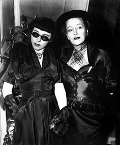 Edith Head & Gloria Swanson.  Ladies who lunch?