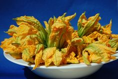 beer battered Zuchinni Flowers, favorite snack I had in Italy