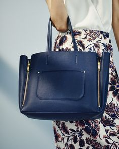 Need A Navy Blue Handbag To Take You From Work Weekend Try Ann Taylor S