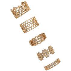 Forever 21 Filigree Ring Set ($5.90) ❤ liked on Polyvore featuring jewelry, rings, forever 21 rings, filigree ring, band rings, forever 21 jewelry and forever 21