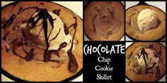 Craving just one cookie? Chocolate chip cookie in a skillet! YUMMY!!!