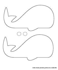 Me encanta este diseño de la ballena de una plantilla: