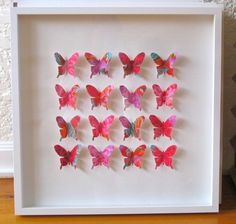 'Butterbox' Fabric Butterfly Box Frame Listing # 281973