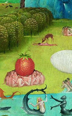 Hieronymus Bosch - The Garden of Earthly Delights. Detail 38