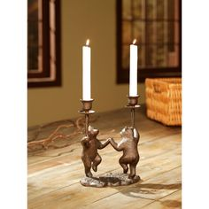 """9"""" Dancing Bears Candleholder >> These are so much fun!"""