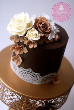 How to ganache a cake and get sharp edges, including a video tutorial!