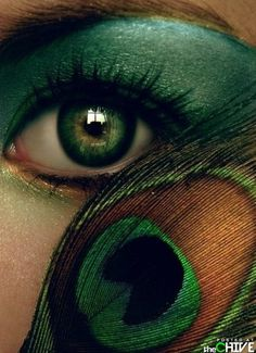 20 Peacock Feather Inspired Eye Make Up Designs Ideas Looks 2 20 + Peacock Feather Inspired Eye Make Up Designs, Ideas & Looks Pretty Eyes, Beautiful Eyes, Beautiful Artwork, Peacock Makeup, Eye Art, Eye Make Up, Shades Of Green, Mardi Gras, Hair And Nails
