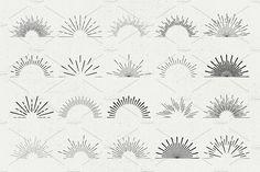 Big Sunburst Bundle by ToriArt on @creativemarket