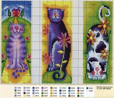 Russian website with pictures of cross stitch bookmark charts. Cat Cross Stitches, Cross Stitch Bookmarks, Cross Stitch Books, Just Cross Stitch, Cross Stitch Animals, Cross Stitch Charts, Cross Stitch Designs, Cross Stitching, Cross Stitch Embroidery