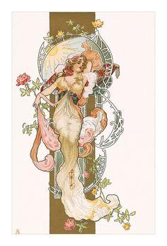 Art nouveau postcard by Eva Daniell http://flic.kr/p/sjiBgs