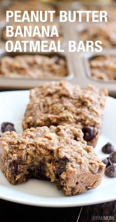 PB Banana Oatmeal Bars