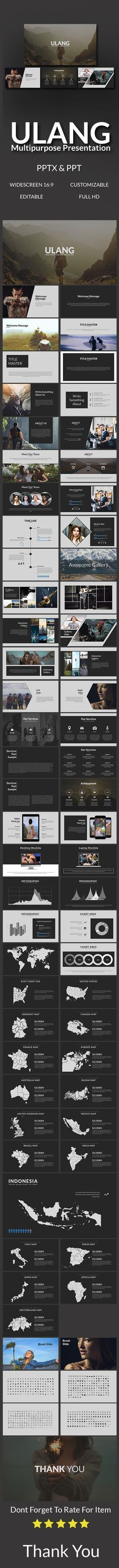 Ulang Multipurpose Template - #PowerPoint #Templates Presentation Templates Download here: https://graphicriver.net/item/ulang-multipurpose-template/19728708?ref=alena994