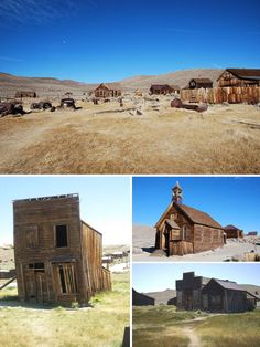 "The old mining settlement at Bodie in California. Dating back to around 1859. Bodie is frozen in a state of ""arrested decay"", looked after as a historic park but not restored to its original condition."