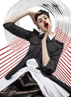 MODERN WEEKLY CHINA- Lily McMenamy in Diamond Generation by Frederik Heyman. Lotta Volkova, July 2013, www.imageamplified.com, Image Amplified