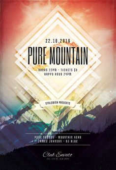 Pure Mountain Flyer Template (Buy PSD file $9)