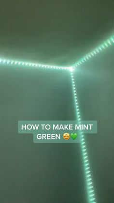 room diy step by step this step by step guide amp; transform your room colors into cool Mint Green. get your led light strips now and have the time of your life. Led Room Lighting, Room Lights, Strip Lighting, Lighting Ideas, Diy Luz Led, Green Led Lights, Led Stripes, Cute Room Decor, Led Licht