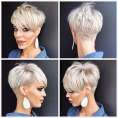 Ok for my pixie friends who have asked for a . Jennifer DelValle… Ok for my pixie friends who have asked for a . Popular Short Haircuts, Short Pixie Haircuts, Cute Hairstyles For Short Hair, Pixie Hairstyles, Short Hair Styles, Pixie Styles, Short Sassy Hair, Short Grey Hair, Short Hair Cuts For Women