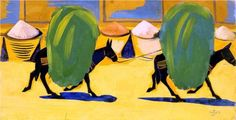 Mules, laden with hay, 1910 / Martiros Saryan Russian Avant Garde, Francisco Goya, Fauvism, Jean Michel Basquiat, Art Database, Oil Painting Reproductions, Diego Rivera, Stavanger, Pictures To Draw