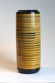 Vintage German 'Tiger' Vase - Scheurich 1960s  #pottery #West-Germany #1960s #mid-century #yellow