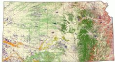 #ESRI #GIS Completed as part of the National GAP Analysis Program, the Kansas GAP Map is a statewide land cover map representing 43 landcover and vegetative classes.