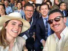 It was a Beauty & the Beast reunion at the Men's Wimbledon Final! Emma Watson sat next to Luke Evans (Gaston) and the star Tom Holland (Spider Man)at the event held on Sunday. Marvel Dc, Marvel Actors, Tom Holland Peter Parker, Harrison Osterfield, Luke Evans, Cecile, Celebs, Celebrities, To My Future Husband