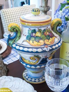 Table Decor Amalfi Inspired Italian Pottery Tablescape & Lemons and Limoncello from Italy\u0027s Amalfi Coast | KITCHEN ...