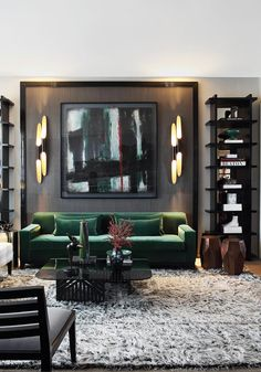 Contemporary and neutral with a splash of a single color