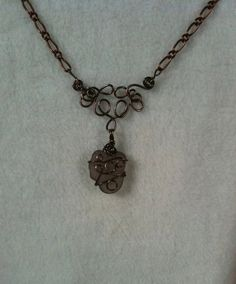 Antiqued Copper & Pink Seaglass Necklace by EnchantedAutumn2012, $30.00