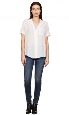 SHORT SLEEVE KEIRA - BRIGHT WHITE