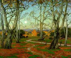 William Wendt, The Grove, 1915, oil on canvas, 50 x 60 inches. Courtesy of Edenhurst Gallery