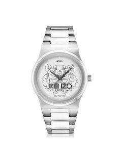 Kenzo Silver Tiger Watch