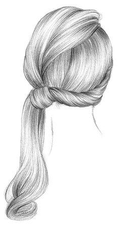 漂亮的黑白手绘女性发型插画---酷图编号...