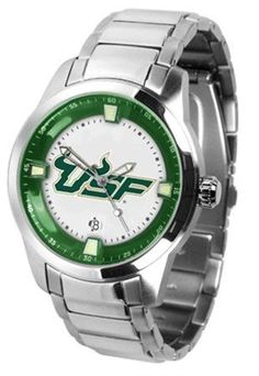 South Florida Titan Men's Steel Watch by SunTime. $121.95. This superb quality timepiece features a quartz accurate movement, stainless steel band and your favorite collegiate logo. The Titan Steel's stylish design enables you to express your loyal school spirit with a more formal flair.