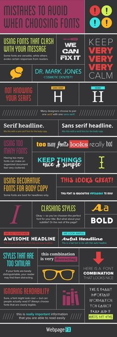 Mistakes to avoid when choosing fonts #TypographyTuesday