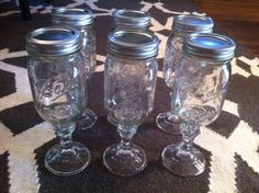 1000 images about candy jar ideas on pinterest candy jars personalized candy and jar fillers - Stemmed mason jars ...
