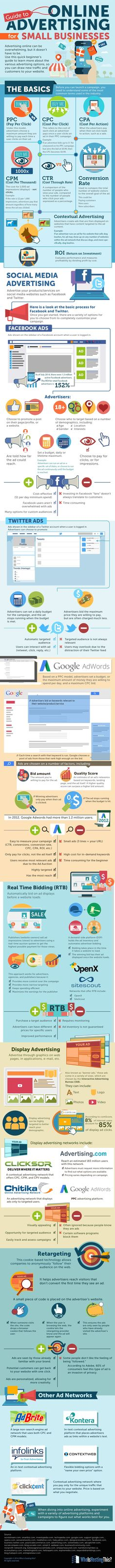Have you experimented with online advertising? Do you know the difference between CPC, CPA and PPC? How will you measure the ROI of your efforts? Does this alphabet soup make your head spin? Check out this infographic from Who is Hosting This for details about different advertising options before you invest.