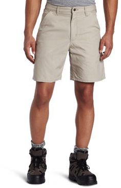 $26, Beige Shorts: Carhartt Canvas Utility Work Short B144. Sold by Amazon.com. Click for more info: https://lookastic.com/men/shop_items/256301/redirect