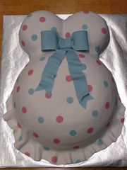 Belly cake. to cute not to repin... if i ever have to plan another baby shower i got a cake for it..