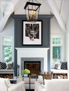 CONSIDERING SPACE, SCALE, AND MILLWORK ABOVE THE FIREPLACE