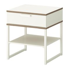 TRYSIL Bedside table, white, light grey $39 The price reflects selected options Article Number :402.312.30 Read more Size 45x40 cm
