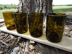 Upcycled glasses for earth friendly wedding by ConversationGlass, $7.50