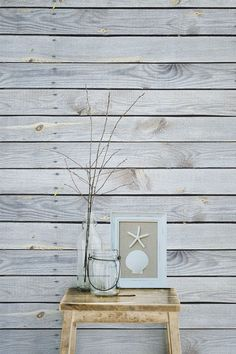 Love this minimal take on a coastal interior? This wood effect wallpaper mural is a match made in heaven with dreamy coastal interiors. Bringing a breath of fresh air to any room, pair with rustic furnishings for the full effect.