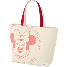 UNIQLO Disney Project Tote Bag ($13) ❤ liked on Polyvore featuring bags, handbags, tote bags, pink, cotton tote bag, tote hand bags, tote handbags, pink tote handbags and pink tote purse