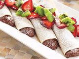 Chocolate Cream Crepes.  Yummy.